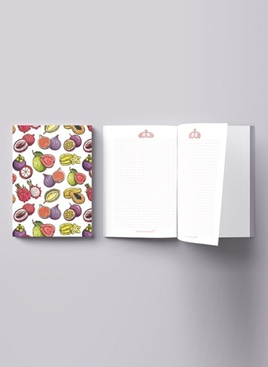 LWP Shop Tropical Fruits Notebook Beyaz